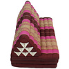 Fine Asianliving Thai Cushion Three-fold 80x190cm Triangle Cushion XXXL 8 Roll Seat