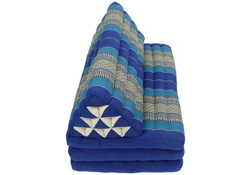 Fine Asianliving Coussin Thaï Triangulaire avec Matelas 3 Parties XXXL - 90x190cm - Bleu