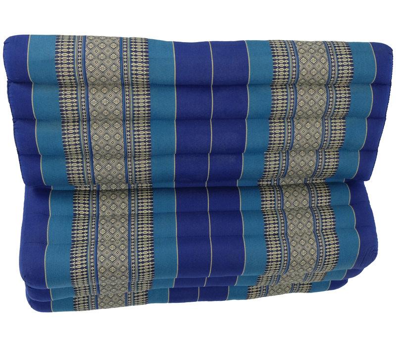 Thais Kussen Meditatie Driehoek Vloer Ligmat Yoga Uitklapbaar Kapok 80x190cm XXXL Oceaan Blauw