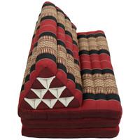 Thais Kussen Meditatie Driehoek Vloer Ligmat Yoga Uitklapbaar Kapok 80x190cm XXXL Rood