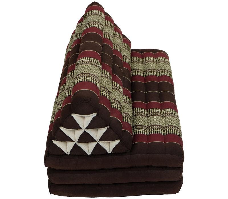 Thais Kussen Meditatie Driehoek Vloer Ligmat Yoga Uitklapbaar Kapok 80x190cm XXXL Zwart Rood