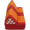 Fine Asianliving Thais Kussen Meditatie Driehoek Vloer Ligmat Yoga Uitklapbaar Kapok 80x190cm XXXL Oranje