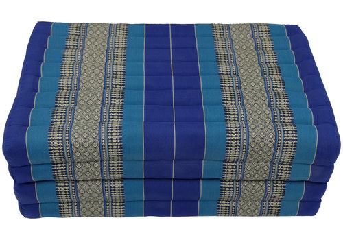 Fine Asianliving Matelas Thaï Pliable en Coton et Kapok XXXL - 80x200cm - Océan Bleu