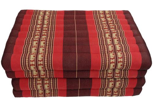 Fine Asianliving Matelas Thaï Pliable en Coton et Kapok XXXL - 80x200cm - Rouge