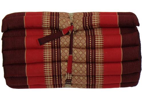 Fine Asianliving Matelas Thaï Enroulable en Coton et Kapok - 50x190cm - Rouge