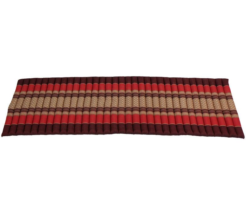 Thai Mat Rollable Matress 190x50x4.5cm Mat Cushion Bordeaux Red