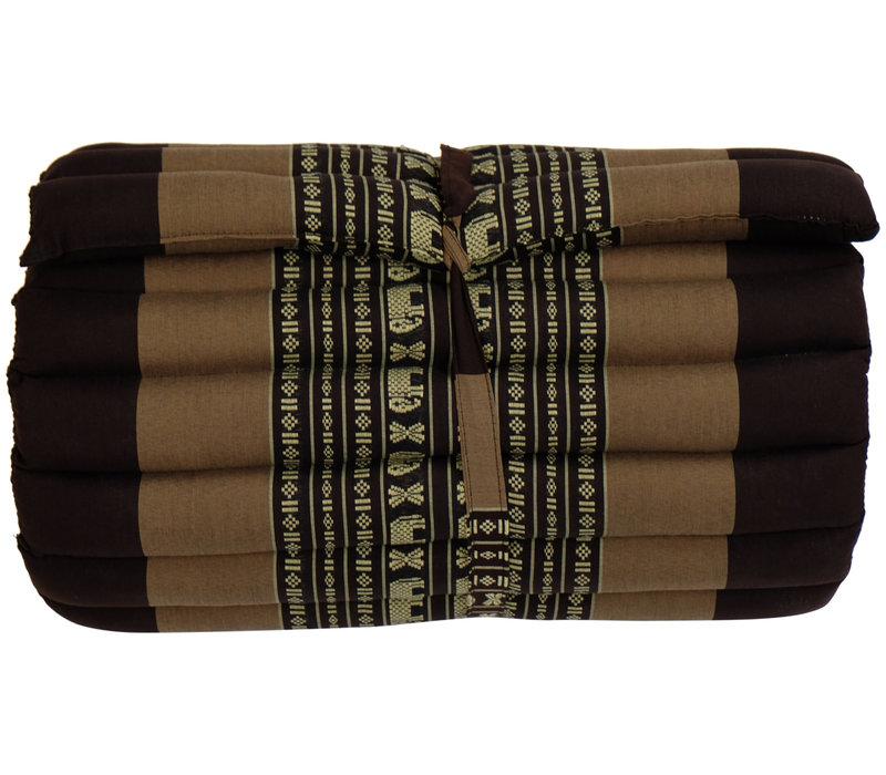 Thaise Mat Oprolbaar Matras 190x50x4.5cm Bruine Olifanten