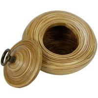 Opberg Pot Met Deksel Bamboe 6 inch Handgemaakt in Thailand Naturel
