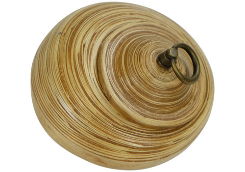 Fine Asianliving Storage Pot with Lid Bamboo 8 inch Handmade in Thailand Natural