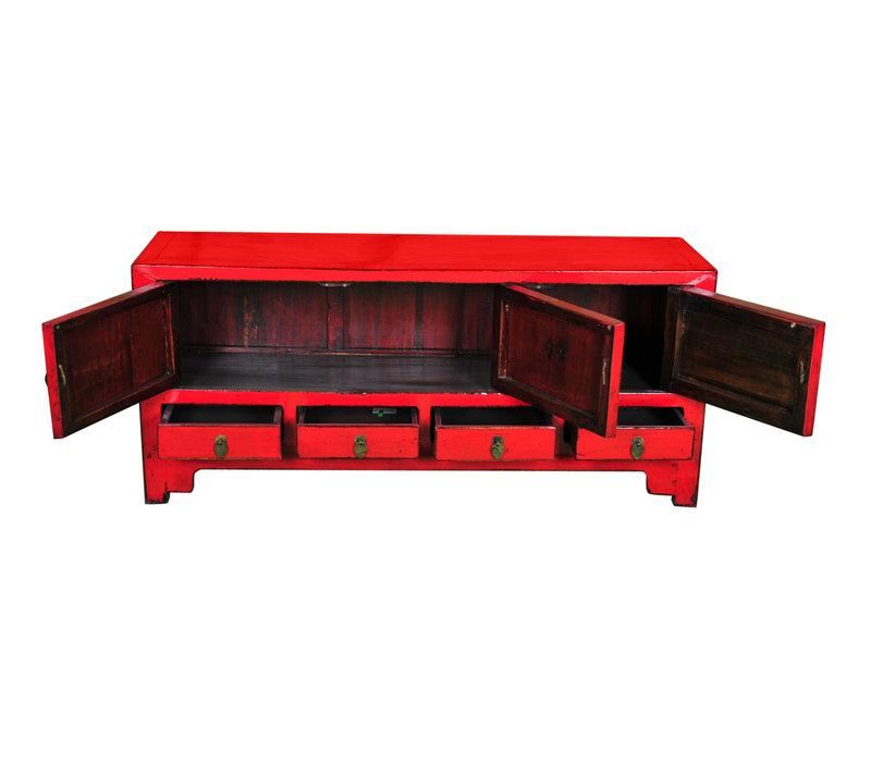 Antieke Chinese TV-meubel Rood B137xD38xH62cm