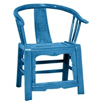 Chinese Chair Traditional Blue W69xD69xH95cm