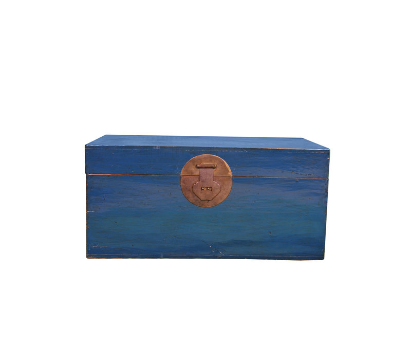 Antique Chinese Trunk Blue W95xD56xH44cm