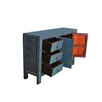 Antiek Chinees Dressoir Blauw B139xD39xH91cm