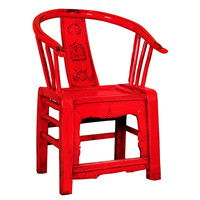 Chaise Chinoise Rouge L69xP69xH95cm