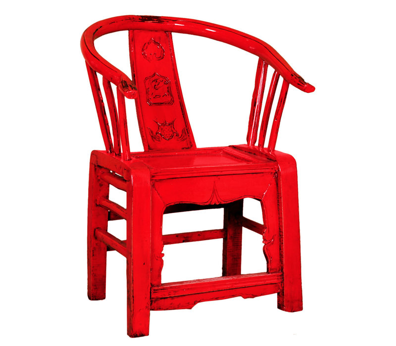 Chinese Stoel Traditioneel Rood B69xD69xH95cm