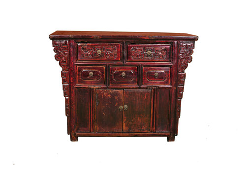 Fine Asianliving Antique Chinese Cabinet W113xD42xH86cm