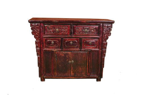 Fine Asianliving Armoire Chinoise Antique L113xP42xH86cm