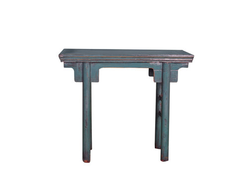 Fine Asianliving Antique Chinese Sidetable Blue W94xD35xH81cm