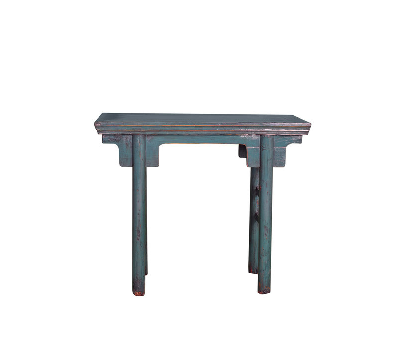 Antique Chinese Sidetable Blue W94xD35xH81cm