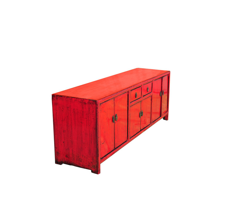 Antique Chinese TV Cabinet Red W148xD38xH56cm