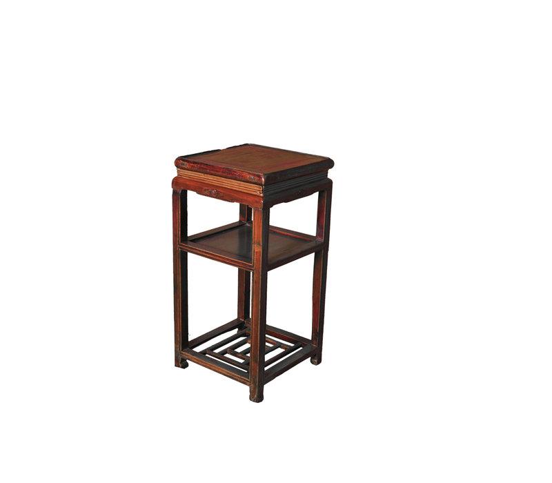 Antieke Chinese Plantentafel B39xD39xH76cm