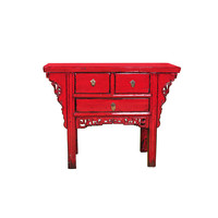 Antique Chinese Cabinet Red W108xD43xH86cm
