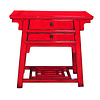 Fine Asianliving Antique Chinese Sidetable Red W86xD42xH80cm