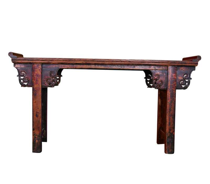 Antique Chinese Altar Table Handcarved W182xD46xH96cm
