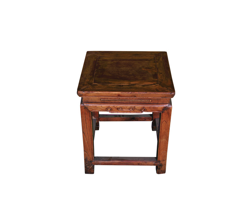 Antique Chinese Stool W43xD43xH48cm