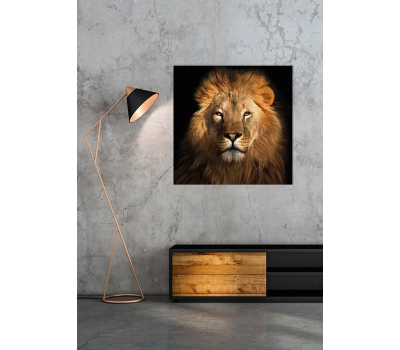 The Lion King Digitalprint 95x95cm Acrylic Glass