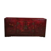 Credenza Cinese Antica Dipinta a Mano L162xP44xA74cm