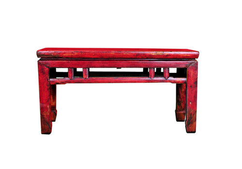 Fine Asianliving Antique Chinese Bench Wood W101xD33xH53cm