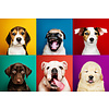 Fine Asianliving Funny Dogs Digitalprint 80x120cm Acrylic Glass