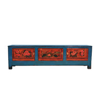 Antique Chinese TV Cabinet Handpainted W180xD41xH52cm