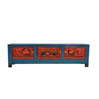 Mueble TV Chino Antiguo Pintado a Mano A180xP41xA52cm