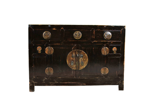 Fine Asianliving Buffet Chinois Antique L126xP50xH89cm Tianjin, Chine