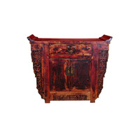 Antique Chinese Cabinet Handcarved W110xD43xH91cm