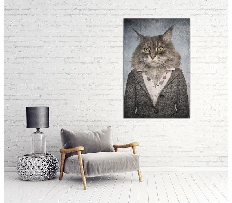 Katten Vrouw Digitale Print 80x120cm Acryl Glas