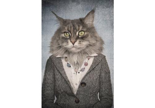 Fine Asianliving Katten Vrouw Digitale Print 80x120cm Acryl Glas