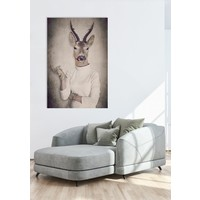 Roebuck in Pullover Digitalprint 80x120cm Acrylic Glass