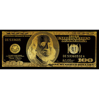 Dollar Note Black Gold Digitalprint 60x150cm Mirror