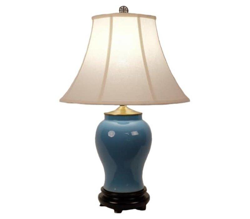 Fine Asianliving Oriental Lampe de Table Porcelaine Glassy Blue