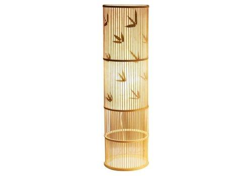 Fine Asianliving Lámpara de Pie de Bambú Hecha a Mano - Sylvie