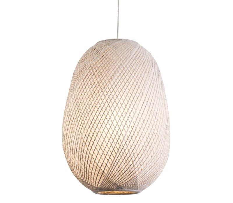 Gallina Uno Hanglamp Bamboe Met Rijstpapier Aan De Binnenkant D44xH60cm