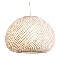 Kyoto Pendant Bamboo Lamp with Rice Paper inside D40xH28cm