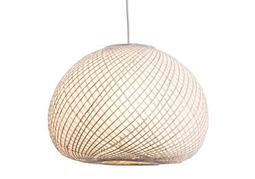 Fine Asianliving Lámpara de Techo Colgante de Bambú y Papel de Arroz - Kyoto D.40xA28cm