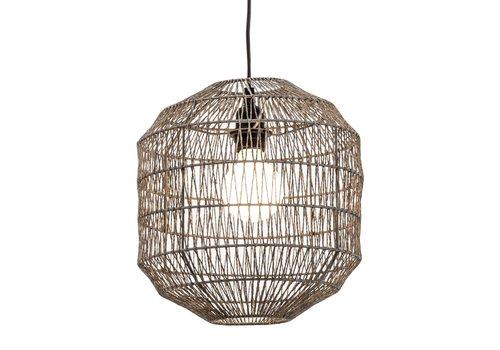 Fine Asianliving Hanglamp Touw Geweven D29xH22cm Zwart Mat