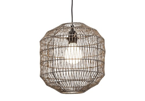 Fine Asianliving Pendant Lamp Paper Rope Weaved D29xH22cm Black Matte