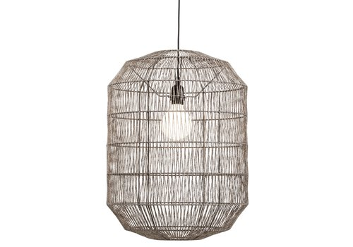 Fine Asianliving Hanglamp Touw Geweven D42xH60cm Mat Zwart