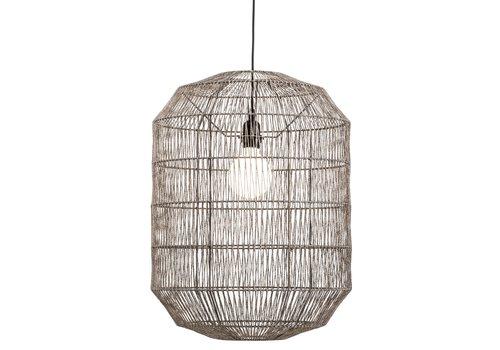 Fine Asianliving Hanglamp Touw Geweven Mat Zwart D42xH60cm